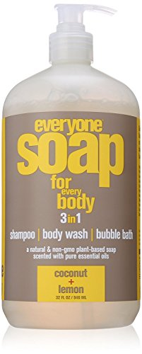 1 Bath Soap (EO Products Everyone Botanical 3-In-1 Coconut & Lemon Soap 32 Ounce)