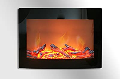 "Daniel 24"" Curved Wall Mount Electric Fireplace"