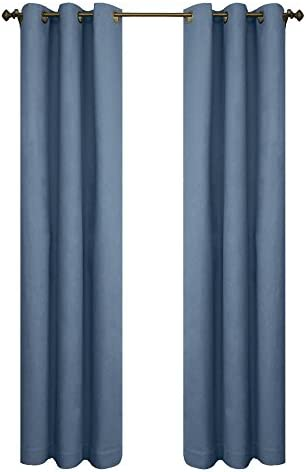 Thermalogic Insulated Cotton Panels Pair, 80 by 63-Inch, Blue