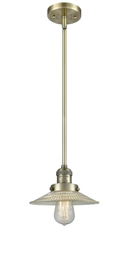 Innovations 1 Light Halophane Mini Pendant in Oiled Rubbed Bronze 201S-OB-G2