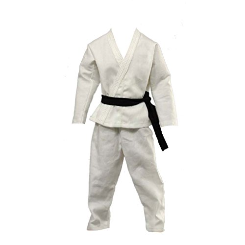 MagiDeal 1/6 Scale Judo Gi White Uniform Kung Fu Suit Jacket Pants For 12 inch Male Action Figure Hot Toys Sideshow Dragon ()