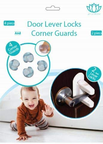 Door Handle Locks Child Proof Doors, Cabinets & Handles| Baby Proof Kit Corner Guards by Zen Products