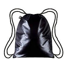 LOQI Metallic Black Backpack