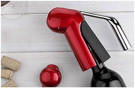 Xu Yuan Jia-Shop Sacacorchos para Botellas Acero hogar Tipo Palanca del sacacorchos del Vino del hogar Inoxidable Sacacorchos Sacacorchos Viaje Multifuncional (Rojo) Abridor Botellas