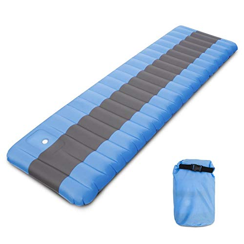 DADZSD Outdoor Ultralight Inflatable Camping Mat Air Sleeping Pad Picnic Mat Foldable Beach Mat Tent Sleeping Pad for…