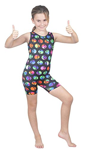 Delicate Illusions Girl Unitard Biketard Gymnastics Outfit Apparel XL (10-11 yrs) Aliens