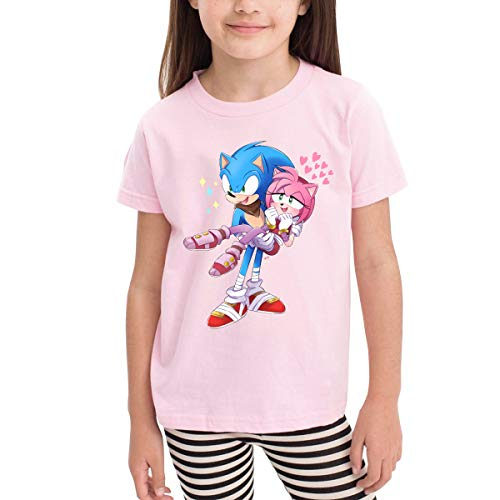 Price comparison product image MountGet Sonic The Hedgehog Children's 2-6 Age Short Sleeve T-Shirts 5 / 6T Pink