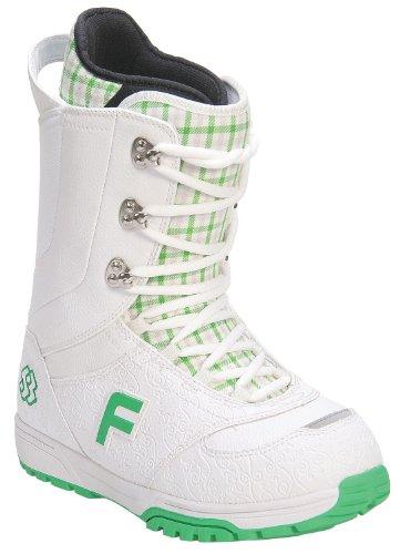 Forum Destroyer Snowboard Boots White/Sb Pattern Women's Sz 4 (Destroyer Forum)