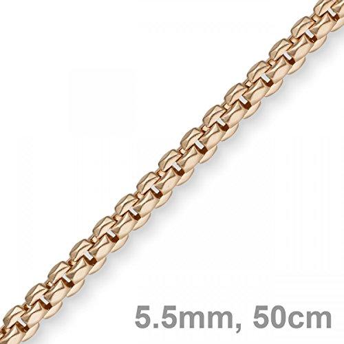 5,5mm Imagination Chaîne Collier Bijou COLLIER EN OR ROSE 585, 50cm