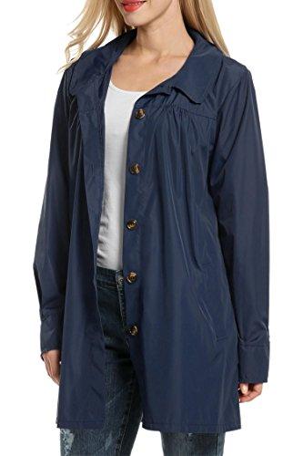 Rain Trench Coat, PEATAP Women's Waterproof Lightweight Ou