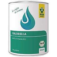 Raab Vitalfood Bio Chlorella-Pulver aus reinen Algen, vegan, mit natürlichem Vitamin B12, für Smoothies, Müsli, Joghurt, Säfte, laborgeprüft in Deutschland, 150 g
