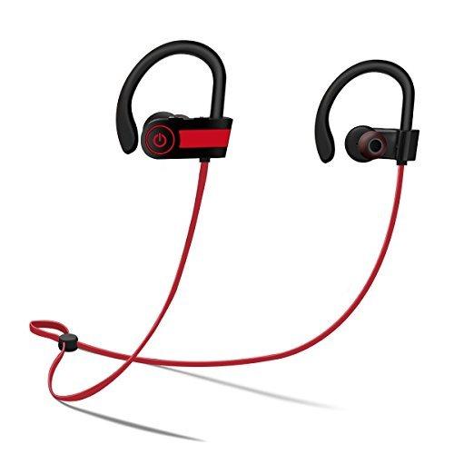 Elegiant Deportes Auriculares Bluetooth HD Stereo sudor Auriculares con micrófono para iPhone Android y otros Smartphone,...