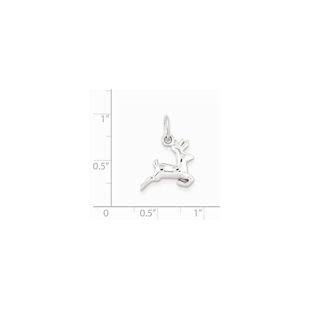 Sterling Silver Running Deer Charm Pendant