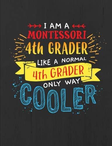 Montessori 4th Grade Notebook - Black - 7.44