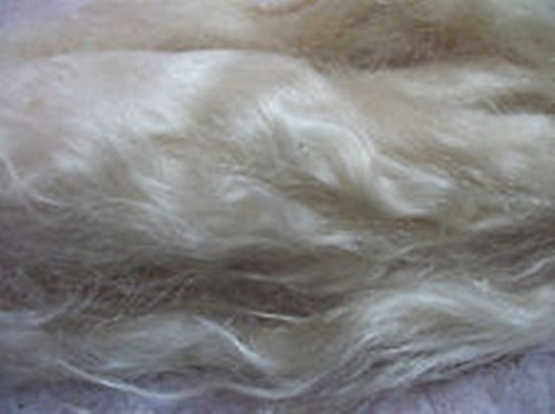 White washed combed Real Mohair Locks - Doll Hair Rooting - Wig Hair