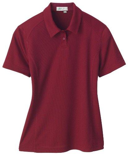 Women's Ladies' Recycled Polyester Performance Birdseye Polo Shirt, XXL, Crimson -