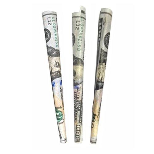 Corsion 50Pcs Rolling Paper Filter Tips 110MM Money Unrefined Cigarette Paper