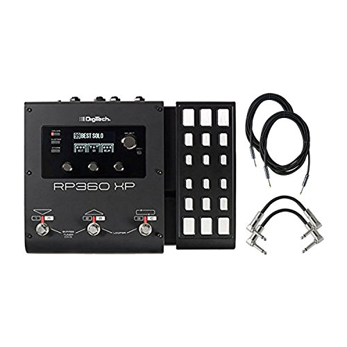 Digitech RP360XP Electric Guitar Multi Effect Pedal With A Pair of Patch Cables and Instrumental Cables by DigiTech