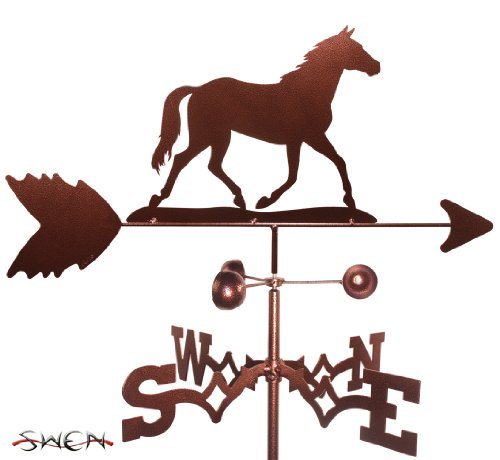 Outdoor Horse Post Mount (Hand Made QUARTER HORSE FLAT POST Mount Weathervane ~NEW~)