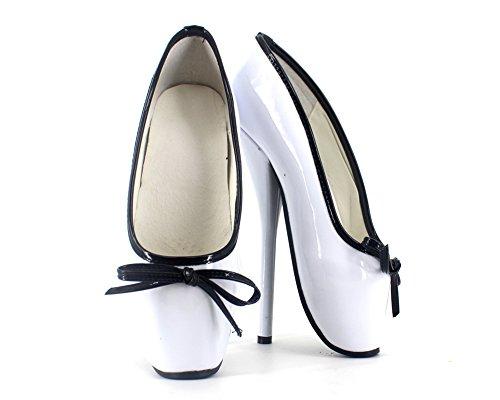 "Wonderheel 7"" aiguille sexy fétiche slip on bottes cheville cuir verni ballet chaussures femme"