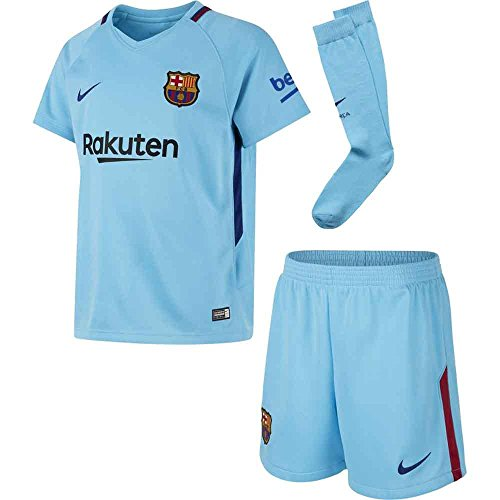 2017-2018 Barcelona Away Nike Little Boys Mini (Away Little Boys Kit)