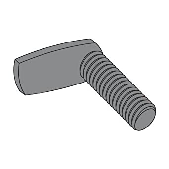 Carton: 1,000 pcs Spade//Steel//Plain 8-32 x 3//4 Weld Screws//L-Shaped 90 Deg