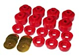 Prothane 7-141 Red Body and Cab Mount Bushing Kit - 16 Piece
