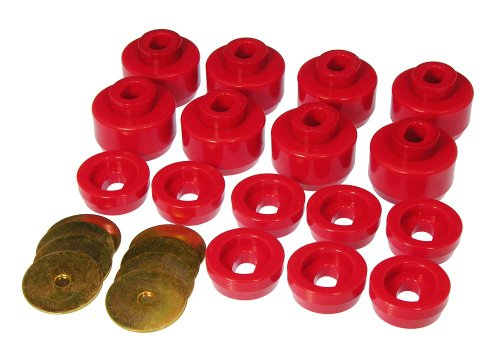 Prothane 7-141 Red Body and Cab Mount Bushing Kit - 16 Piece (7 16 Bushing compare prices)