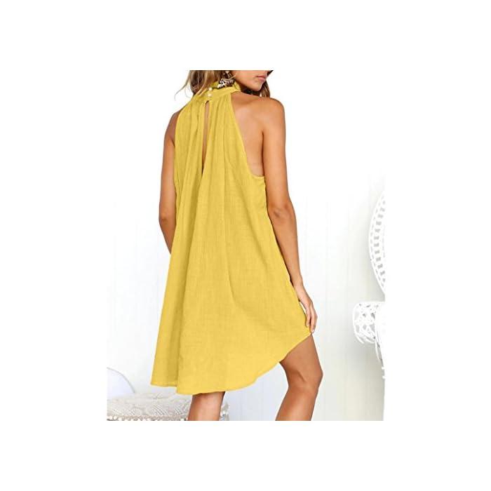 Dress of Women OYSOHE Women Bohemian V Neckline Dress Flower Print Short Sleeve Irregular Beach Dress