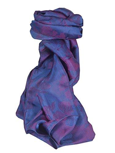 Vietnamese Silk Scarf Reversible Hoi-An Yen-Phu Blue & Pink by Pashmina & Silk