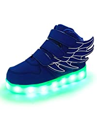 pretty nice 72de5 2f912 Lumeey 7 Color Kids LED Light Up Shoes Dance Shoes Flashing Sneakers with  Wings
