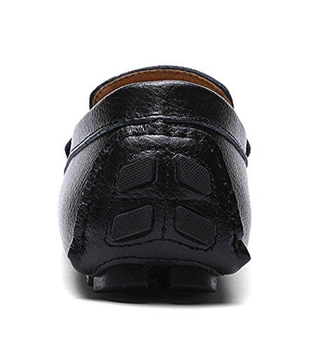 de SK Negro Zapatos Mocasines Respirable Hombre Conducción Zapatos Cuero Barco Calzado Studio Mocasine de Del rxUPpqnrwB
