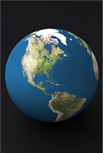 PLANET EARTH GLOSSY POSTER PICTURE PHOTO globe world america