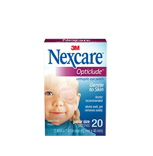 Juniors Eye - Nexcare Opticlude Orthopic Eye Patches, Junior Size - 20 count