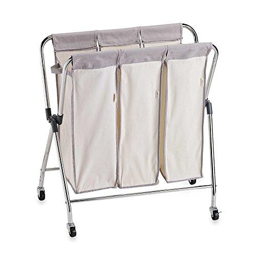 Real Simple® Triple Laundry Hamper