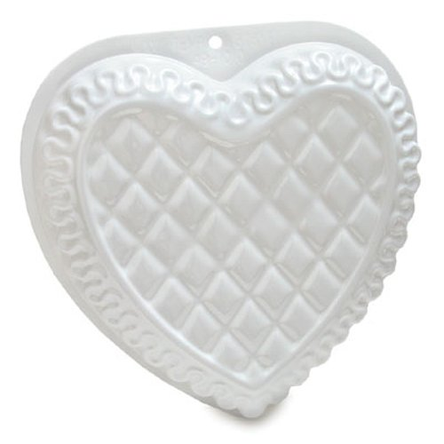 CK Products Fancy Heart Pantastic Plastic Cake Pan