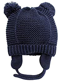 Baby Hat Cute Bear Toddler Earflap Beanie Warm for Fall Winter 4bece1e0390c