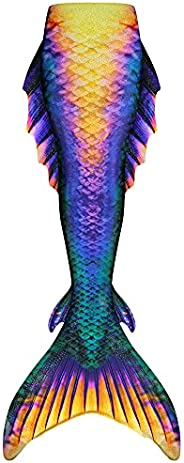 Fin Fun Atlantis Wear-Resistant Mermaid Tail Skin, Monofin Insert Not Included, for Girls, Boys, Women, and Me