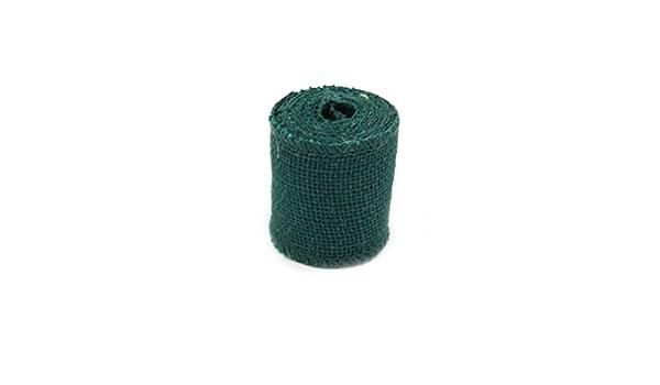 LEORX 2M Arpillera de yute cinta rollo para decoraci/ón verde