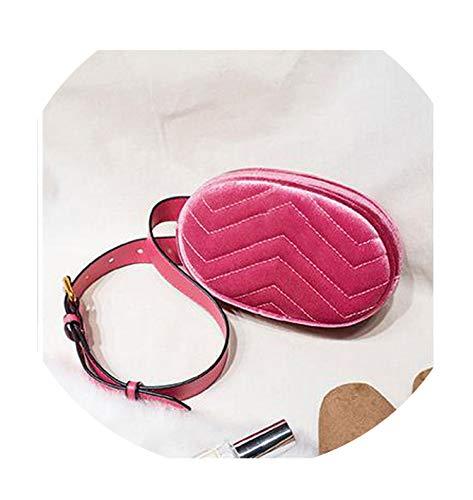 (Belt Bag Waist Bag Lovely Fanny Pack Leather Handbag Colorful Summer,Velvet Rose Redzs)