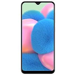 Samsung Galaxy A30S w/On-Screen Fingerprint (64GB, 4GB) 6.4″, Triple Camera, Dual SIM GSM Unlocked A307G/DS – US + Global 4G LTE International Model (Prism Crush White, 64 GB)