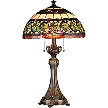 Dale Tiffany Tt101081j Aldridge Peacock Table Lamp Amazon Com