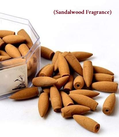 RSI  3 5 cm Long, Big Size Chandan Flavor (Sandalwood Fragrance) Backflow  Incense Cones {30 Cones}