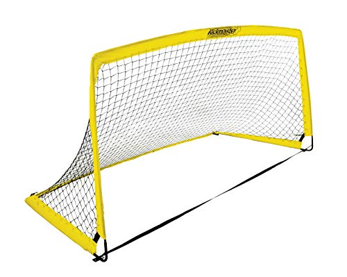 Kickmaster Kids' Fibreglass Goal, Yellow, 6 ft