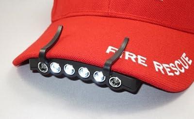2 Pack 6 LED CAP LIGHT Under the Brim Cap Hat Light w/ 4 Functions & 2 Battery sets