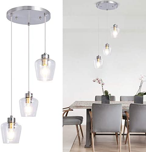 3-Light Glass Pendant Light