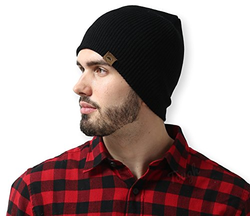 Daily Knit Ribbed Beanie by Tough Headwear – Warm, Stretchy & Soft Beanie Hats for Men & Women – Year Round Comfort – Serious Beanies for Serious Style