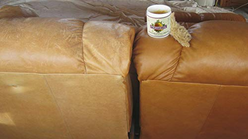 Skidmore's Restoration Cream   Genuine Leather and Wood Restorer, Softener, and Conditioner   100% Natural Non-Toxic Formula   Kit Will Restore and Repair Dry Leather and Wood Products in The Home