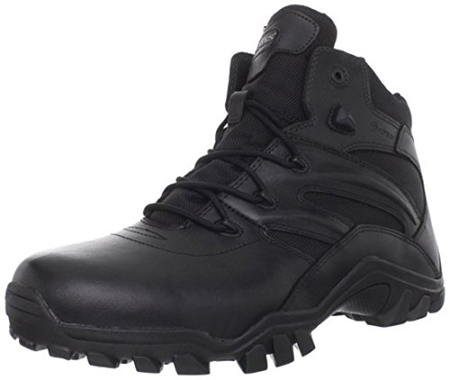 Bates Mens Delta Side Zip 6 Inch Uniform Boot  Black  11 5 Xw Us