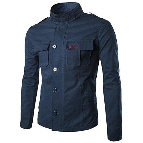 Kmety Men's Full Swing Quick Duck Overland Shirt Jacket Navy (Full Jersey Vest Button Baseball)